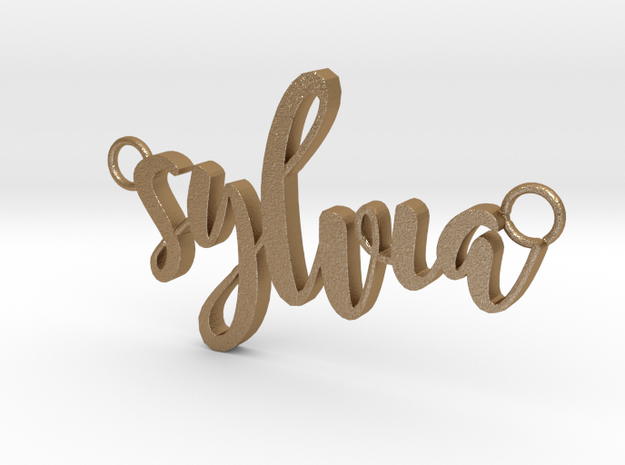 Sylvia in Matte Gold Steel