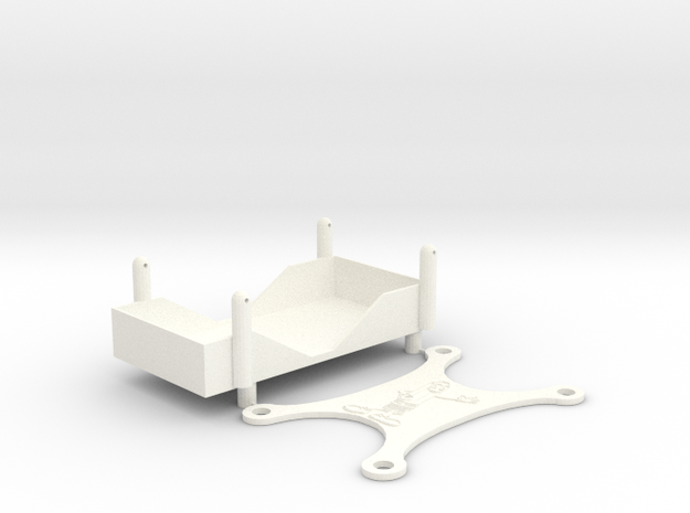 A-Main Racing Bullet Battery Tray in White Strong & Flexible Polished