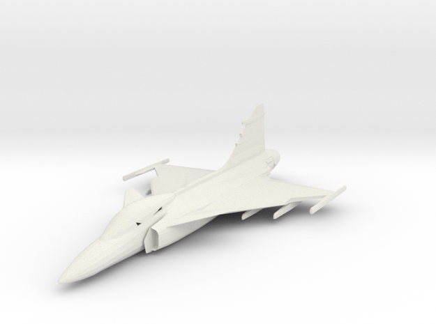 Saab Gripen 1/285 scale in White Strong & Flexible