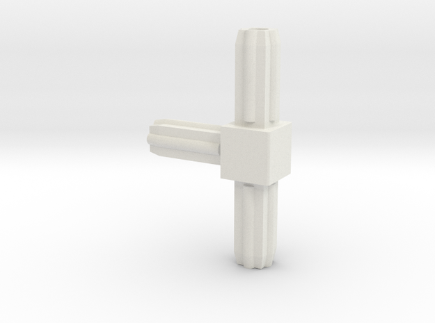 Square Tube 270 in White Strong & Flexible