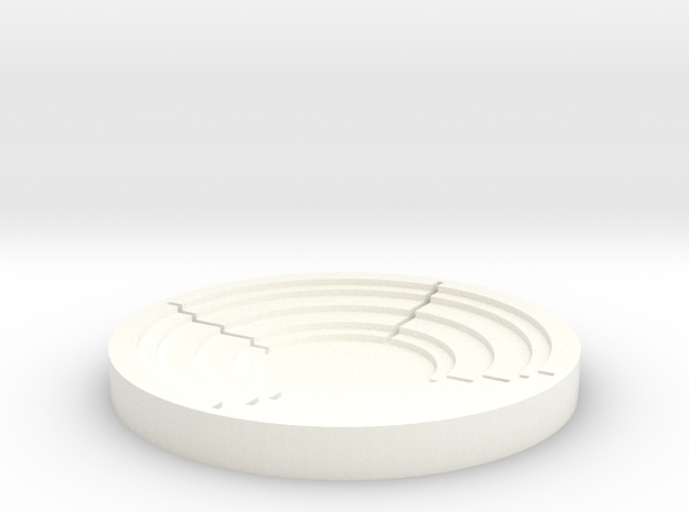 Arc Puck Infinite in White Strong & Flexible Polished