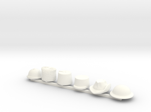 6 x Gallipoli in White Processed Versatile Plastic