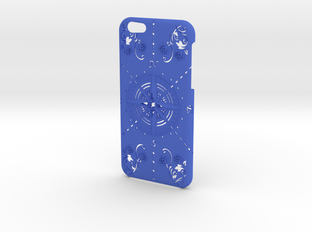 iPhone 6 case compass rose in Blue Processed Versatile Plastic