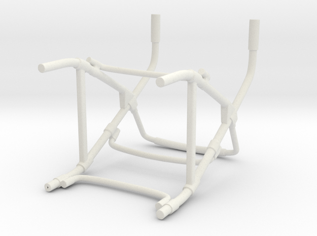 Walker Hollow Shapeways in White Natural Versatile Plastic