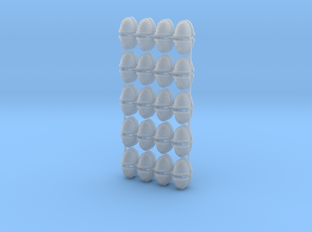 80 Hellion Shoulder Pads in Smooth Fine Detail Plastic