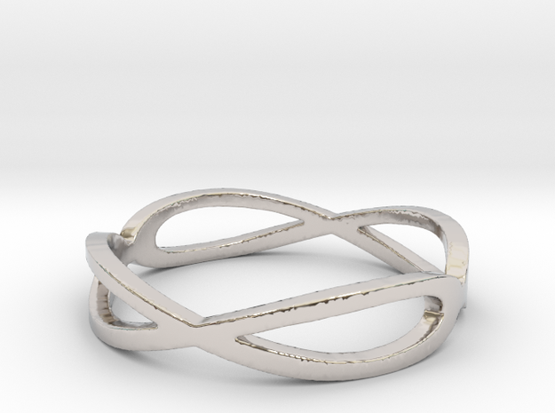 Aeon Double Infinity Ring Size 10.75 in Platinum