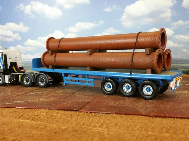1:50 Steel Pipe Cargo in White Strong & Flexible