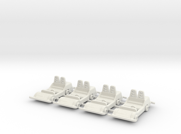 Turnpike Car  in White Natural Versatile Plastic