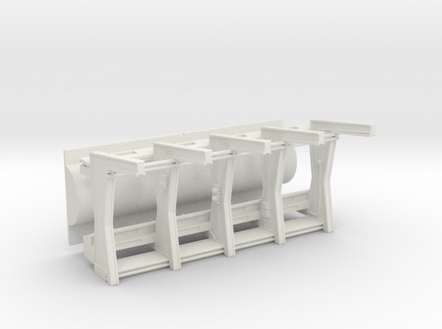 Front Wall Insert v2 with Separated Tube for DeAgo in White Strong & Flexible
