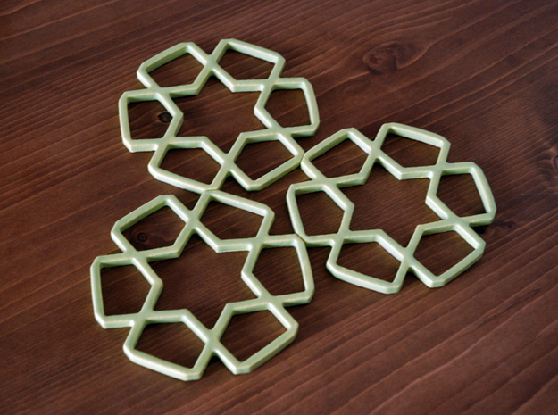 A Tileable Coaster 3d printed Tileable Coaster