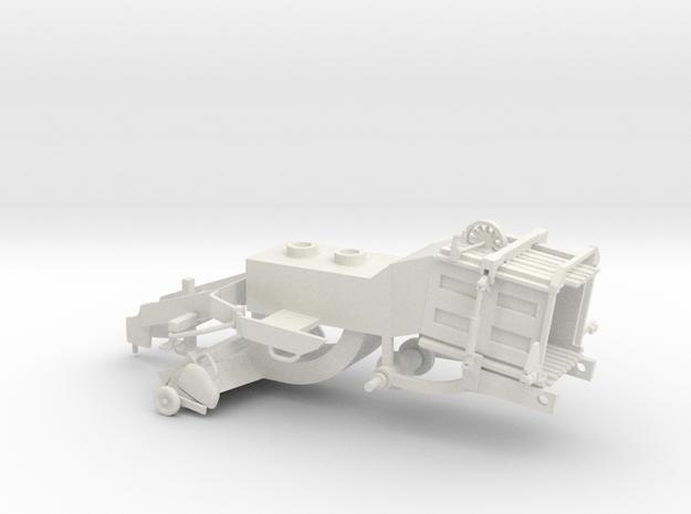 1/64 Modern Baler Lower Body in White Natural Versatile Plastic