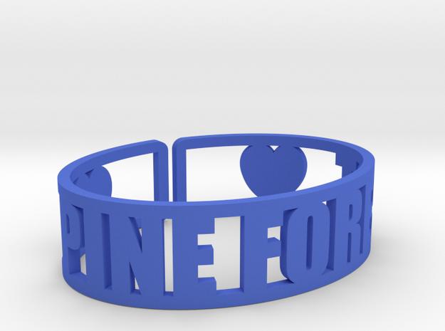 Pine Forest Cuff in Blue Processed Versatile Plastic
