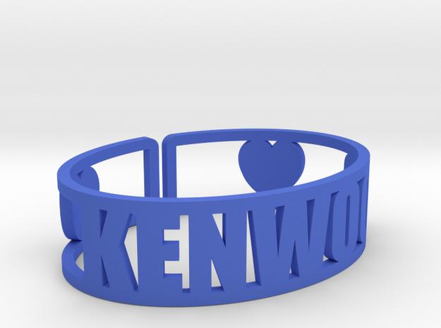 Kenwood Cuff in Blue Processed Versatile Plastic
