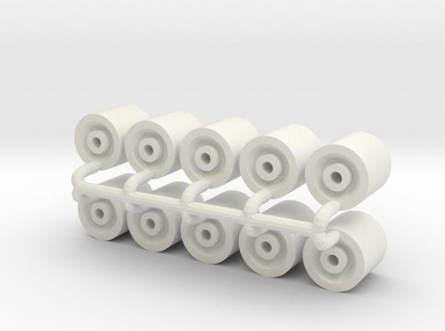 "1/64 26"" Wheels in White Natural Versatile Plastic"