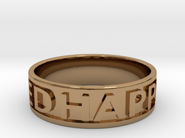 HAPPILY DIVORCED Ring 3d printed