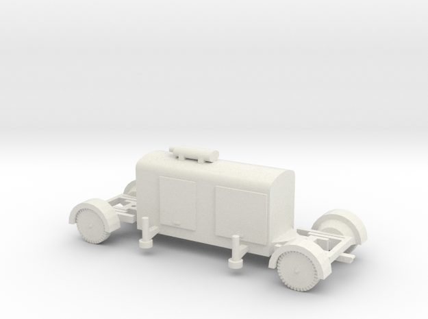 TT (1/120) German Generator trailer in White Natural Versatile Plastic