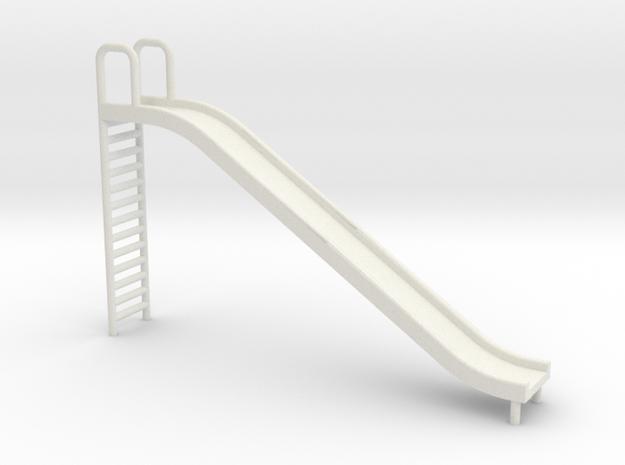 Playground Slide - 'O' 48:1 Scale in White Natural Versatile Plastic