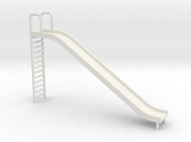Playground Slide - 24:1 Scale in White Natural Versatile Plastic