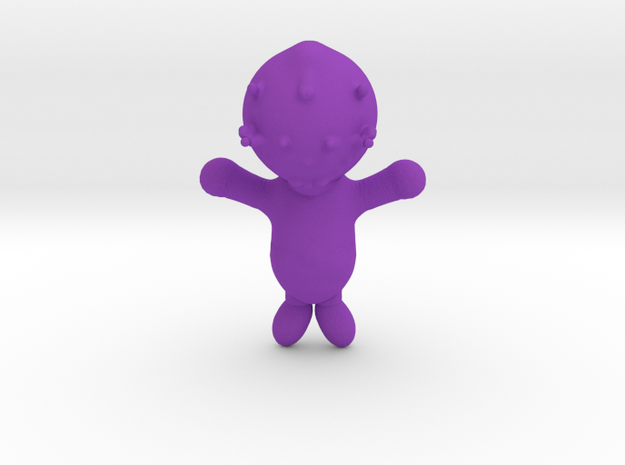 Alien baby in Purple Processed Versatile Plastic
