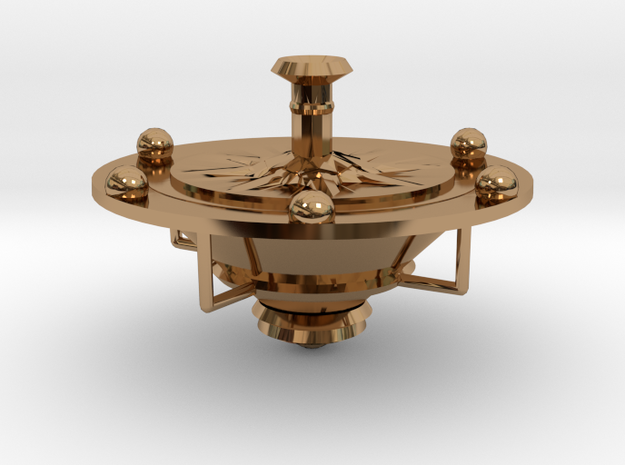 Spin 360 Compass in Polished Brass