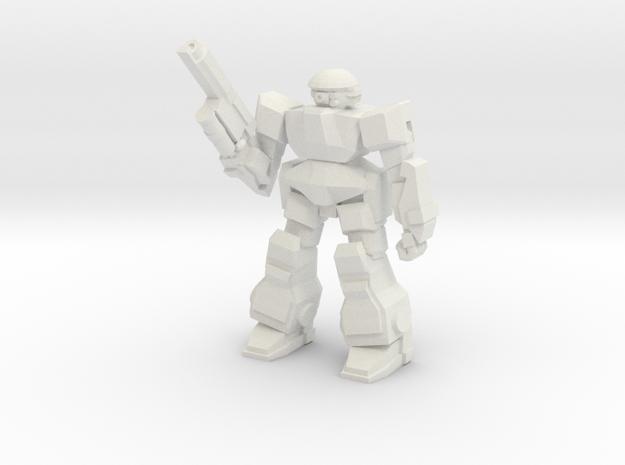 Howler Pose 1 in White Natural Versatile Plastic
