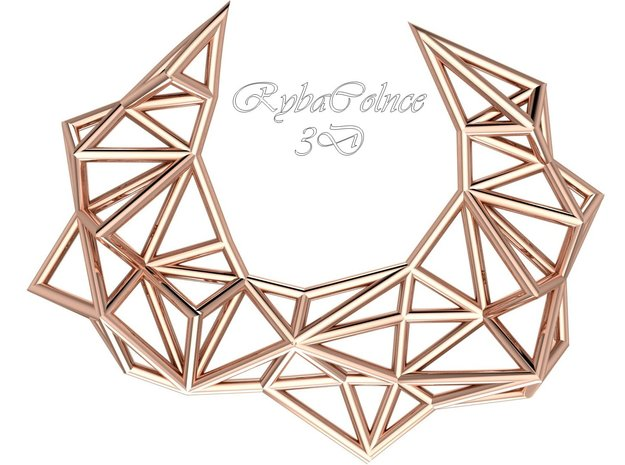 Pendant The Polygon in 14k Rose Gold Plated Brass