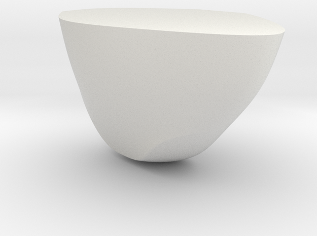 Rock Part 2 - 3D Print - REV1 - 02-23 in White Natural Versatile Plastic