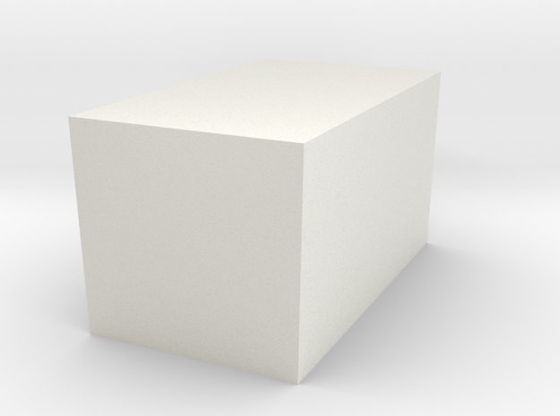 Geo Part 2 - 3D Print - REV1 - 02-23 in White Natural Versatile Plastic