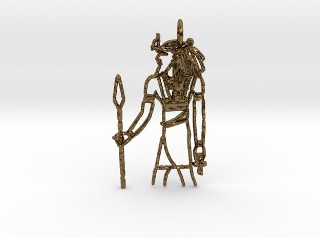 Egyptoid in Polished Bronze