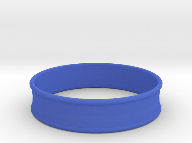 1 31/32 Inch (50mm) 2x Flare Ear Tunnel (single) in Blue Strong & Flexible Polished