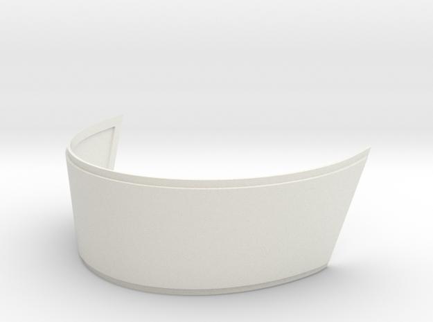 Thomas helmet visor vacuum forming template - 2mm  in White Natural Versatile Plastic