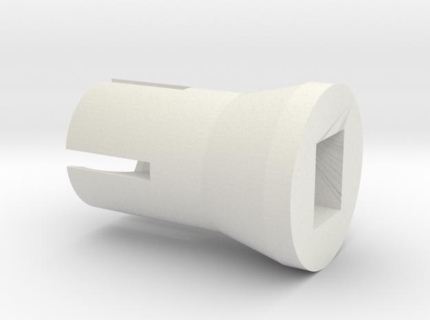 Round Base top in White Natural Versatile Plastic