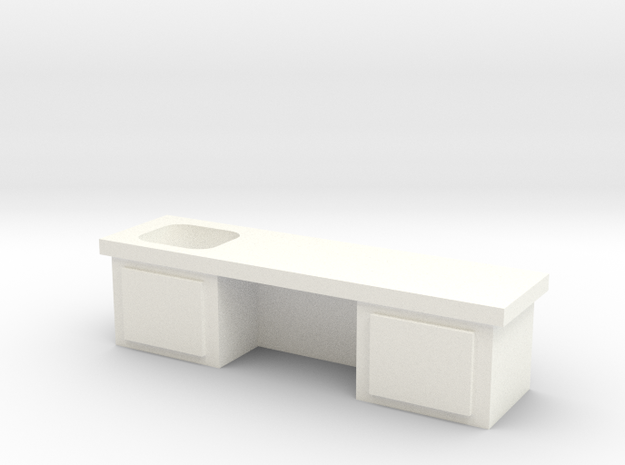 Lab Table in White Processed Versatile Plastic