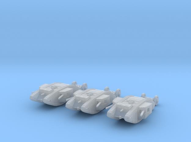 6mm 1/285 WW1 Mk.I Male tank in Frosted Ultra Detail