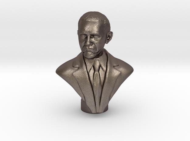 Obama Not Bad meme metal in Polished Bronzed Silver Steel