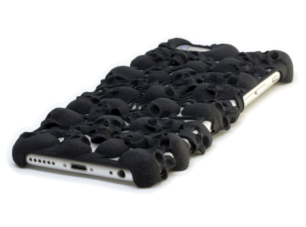 iPhone 6 Skull Case in Black Natural Versatile Plastic