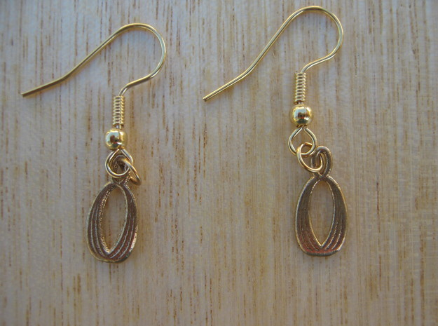 Almond Earrings in Natural Bronze