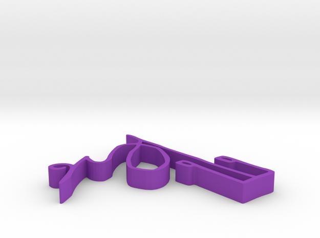 001026 : Signature of al-Quran verses numbers in Purple Processed Versatile Plastic
