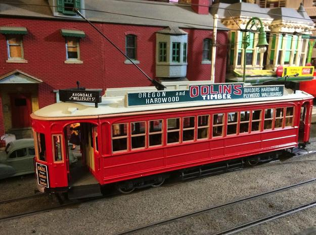 Auckland 1929 Tram - O Scale 1:43 (Part A) in Smooth Fine Detail Plastic