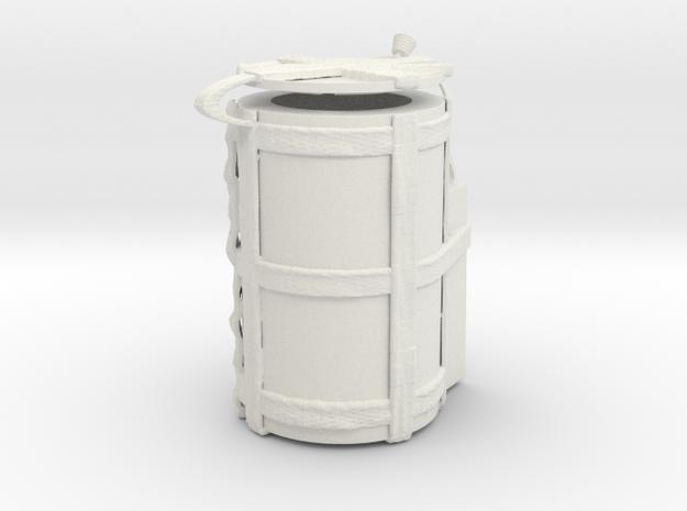 "1/18 Scale ""H912"" SADM Transport Container (Hinged in White Natural Versatile Plastic"