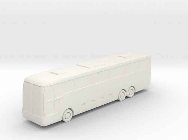 Large Bus in White Natural Versatile Plastic: 6mm