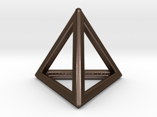 Tetrahedron LG in Polished Bronze Steel