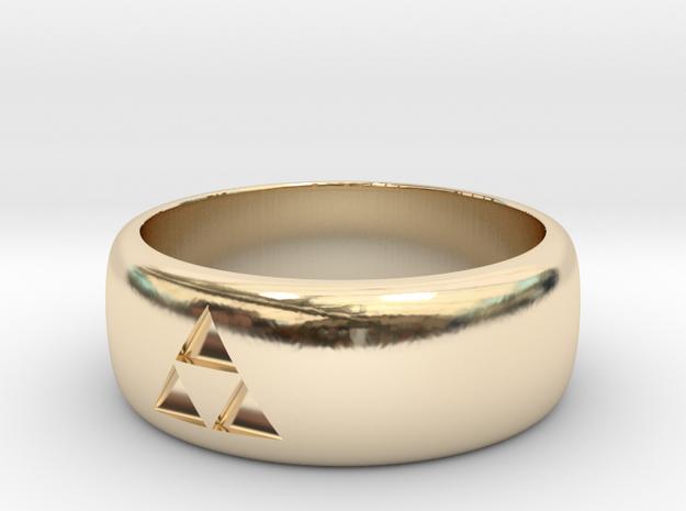 legend of zelda  triforce ring in 14k Gold Plated