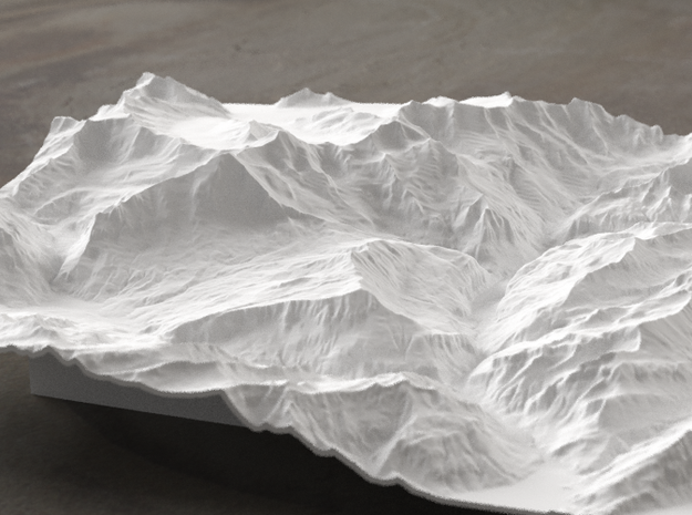8''/20cm Oberland Peaks, Switzerland in White Strong & Flexible
