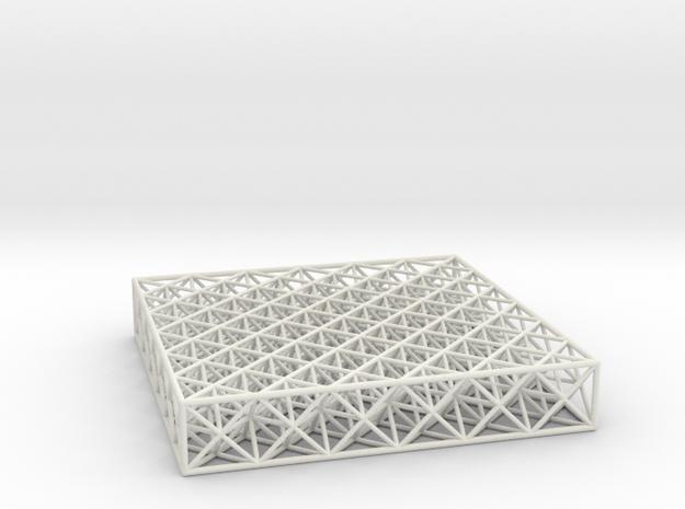 Octet Truss Panel (6x6x1) in White Natural Versatile Plastic