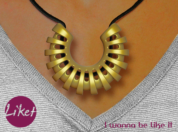 Cocoon Pendant in Matte Gold Steel