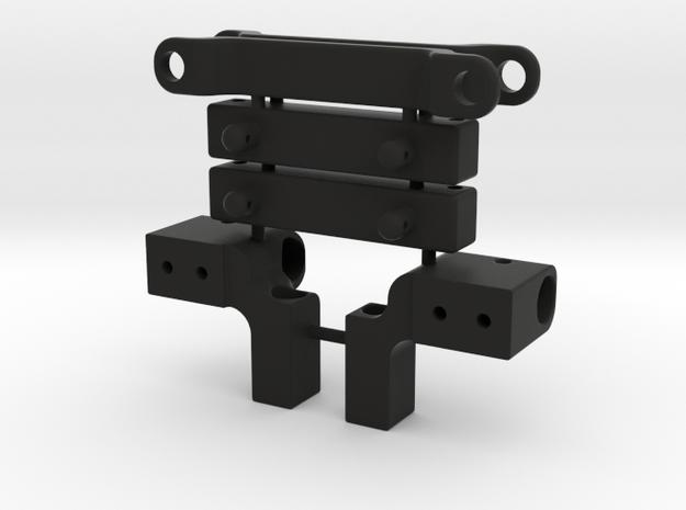 Skeleton Rear Body Bumper Mount Set in Black Natural Versatile Plastic