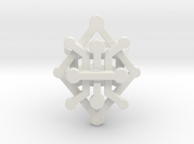 Geo Rhombus ring size 5 in White Natural Versatile Plastic