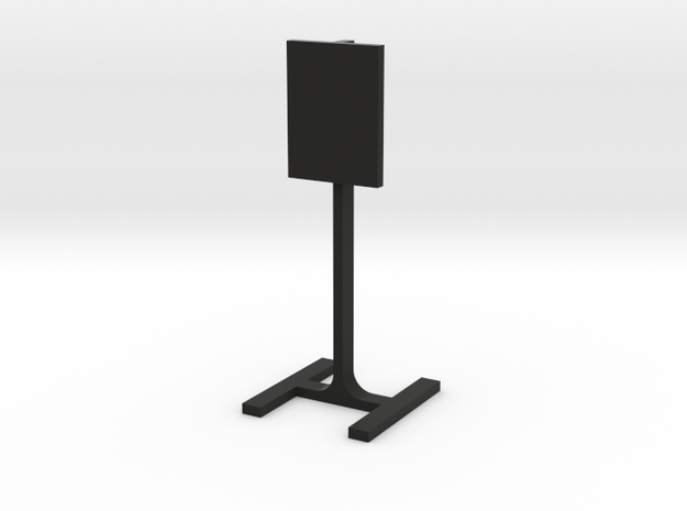 "1:24 Scale Steel Challenge 18x24"" Square Plate in Black Natural Versatile Plastic"