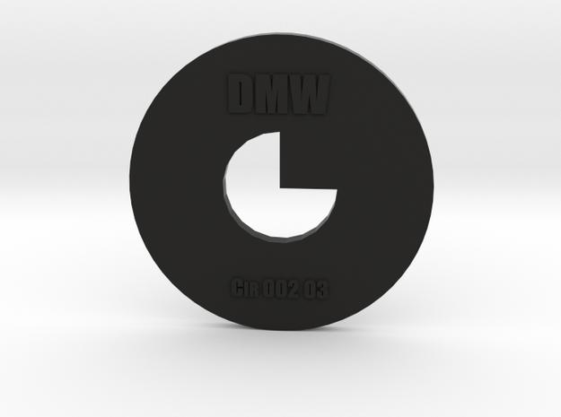 Clay Extruder Die: Circle 002 03 in Black Natural Versatile Plastic